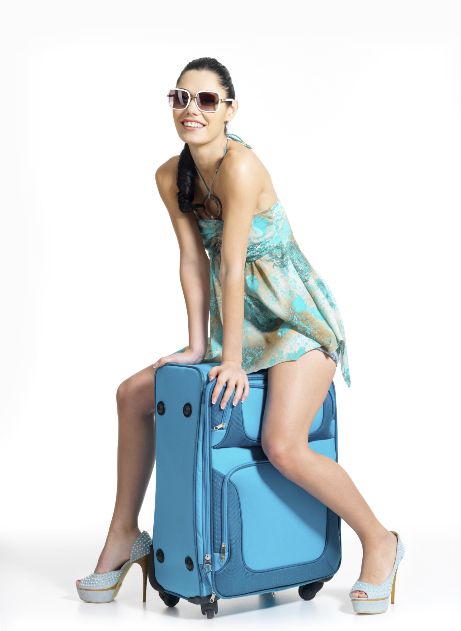 luggage woman