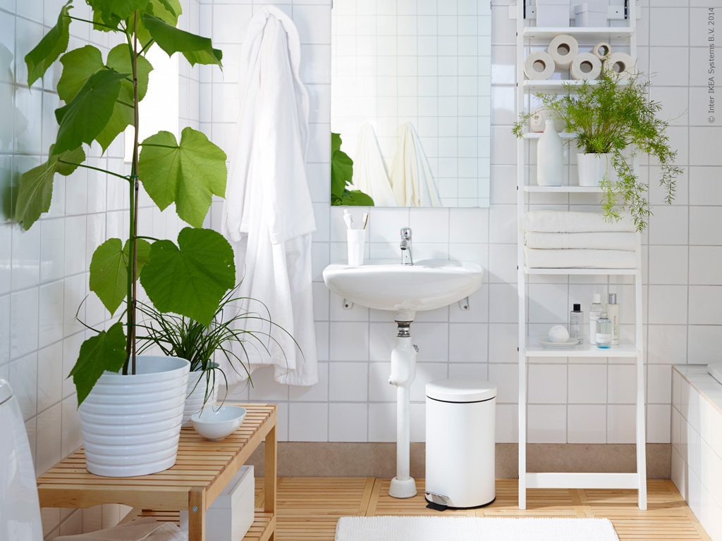 white-and-wood-and-green-plants-bathroom-inspiration-from-IKEA