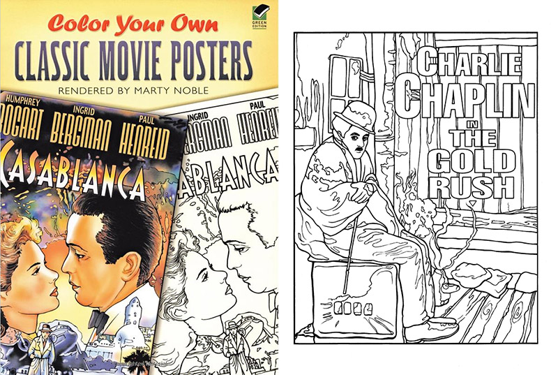 Classic movie posters coloring book