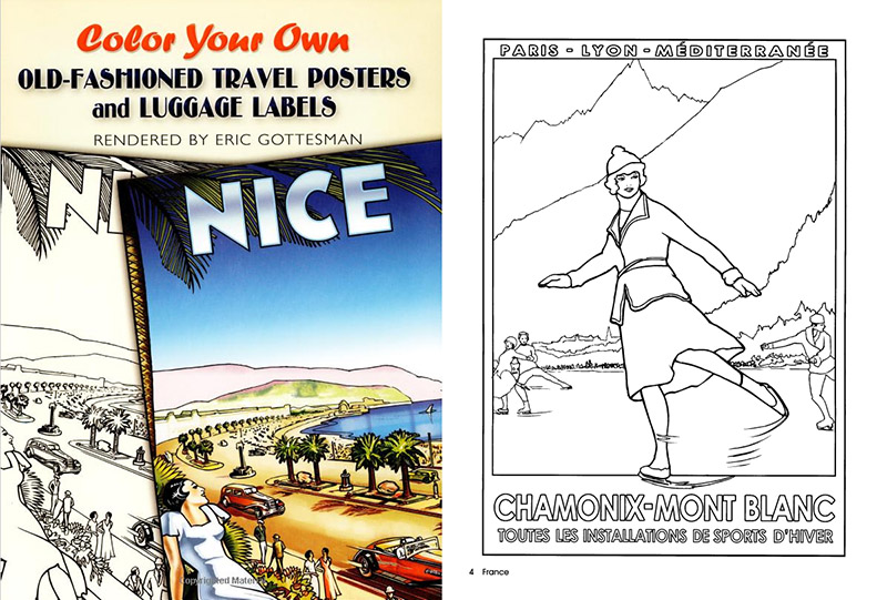Travel posters and luggage labels