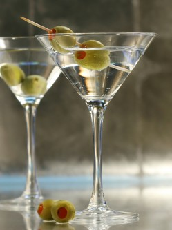 Martinis with shaker