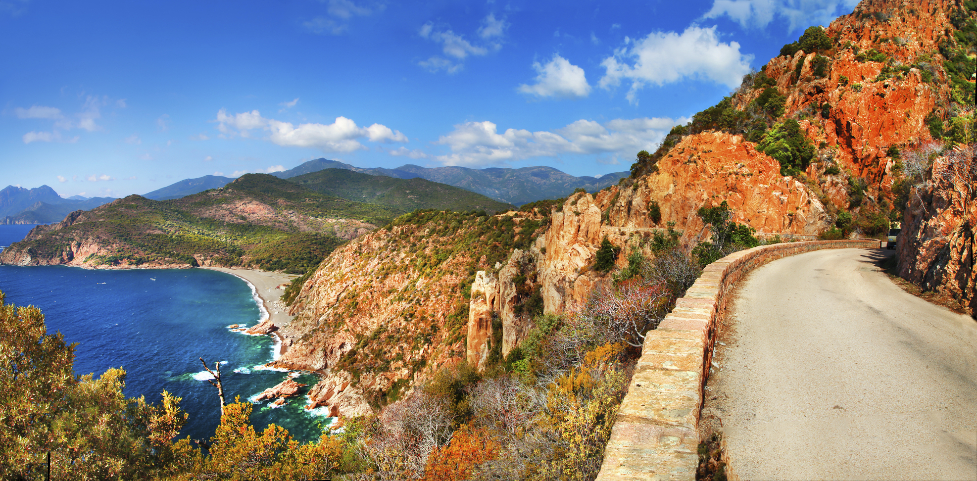 Red rocks in Corsica island,France.